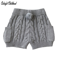 Baby Girls Shorts Autumn Knited Bunny Design Cotton Children S Shorts Kids Casual Pants For Girls