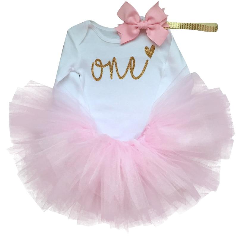 Summer Brand 2018 First 1St Birthday Dress Bow Born Baby -8385