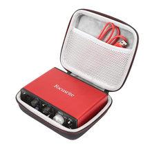 LuckyNV Duro EVA Caixa de Viagem Caso Bolsa Protetora para Solo de Focusrite Interface De Áudio