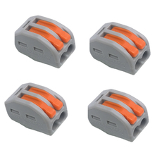 цена на 100pcs/lot Connector 222-412(PCT212) Universal Compact wire connector Wiring Connector 2 pin Conductor Terminal Block