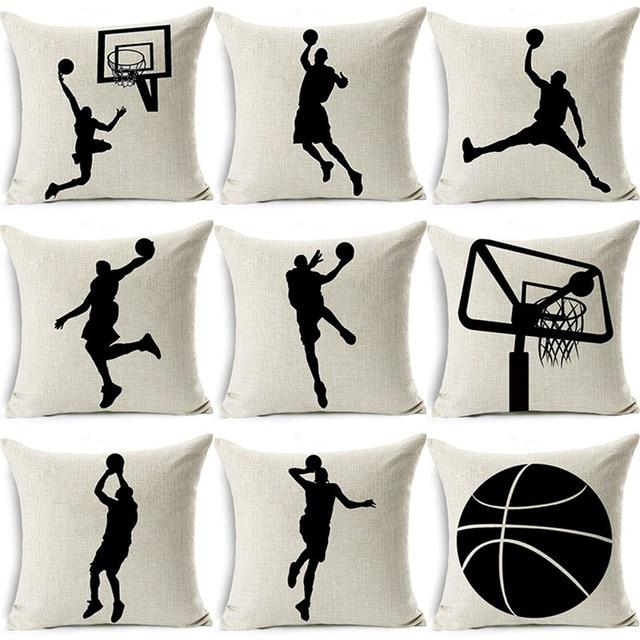 Di cotone di Tela Giocare a Basket Sport Coperture per Cuscini Divano di Casa De