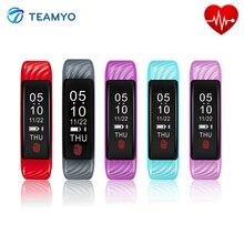 Teamyo W810 пульсометр смарт-фитнес-браслет погоду синхронизировать Будильник Напоминание смарт-браслет для IOS Android