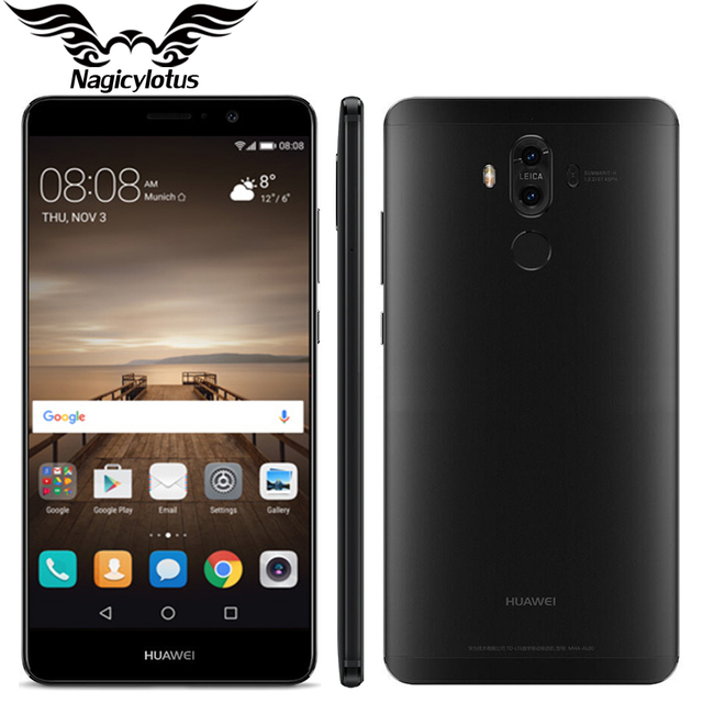 "Original Huawei Mate 9 Mate9 4G LTE Octa Core 4GB RAM 64GB ROM 5.9"" HD Android 7.0 Fingerprint ID 20MP+12MP Camera Mobile Phone"