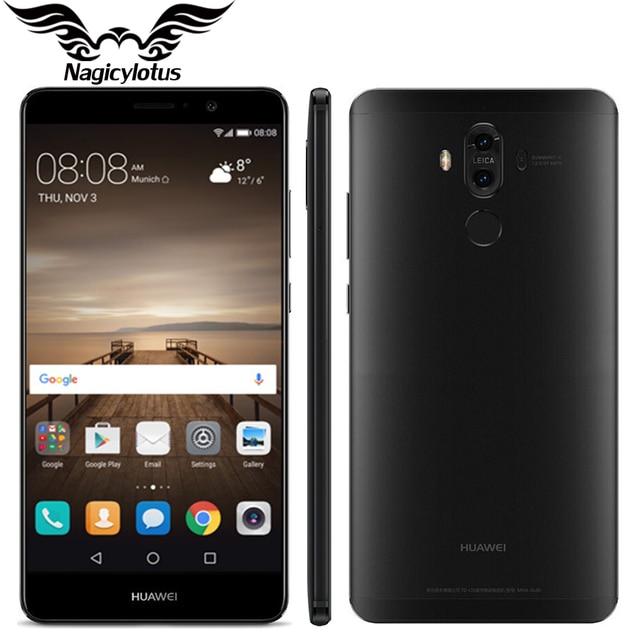"Original Huawei Mate 9 Mate9 4G LTE Octa Core 4GB RAM 64GB ROM 5.9"" HD Android 7.0 Fingerprint ID 20MP+12MP Camera Mobile Phone"