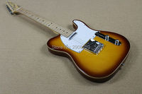 Hot Sale New style classic 53 tele Guitar aged binding vintage sunburst circle color tl guitar high quality free shipping