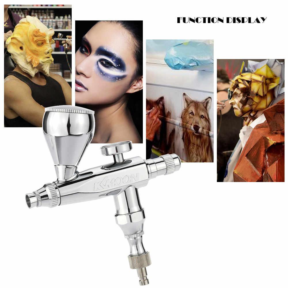 Mini airbrush compressor 0.3mm 5 & 13cc pistola de pulverizador de pintura de único-ação ar-escova sandblaster para bolo modelo de carro maquiagem pintura corporal