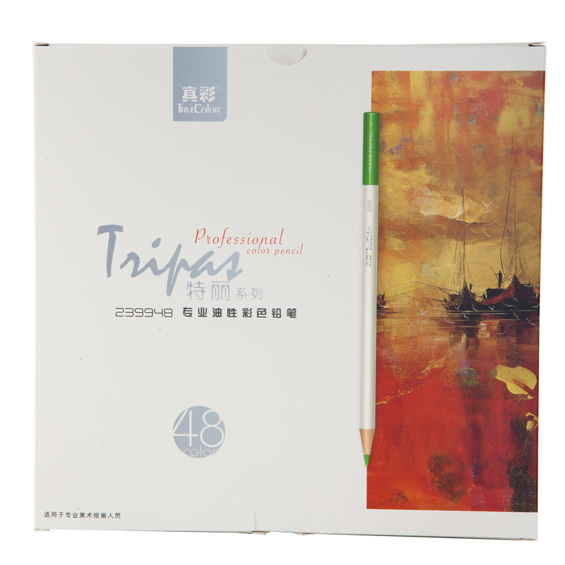 Truecolor Terri Oily Color Pencil 18/24/36/48 Color Art Professional Painting Color Lead