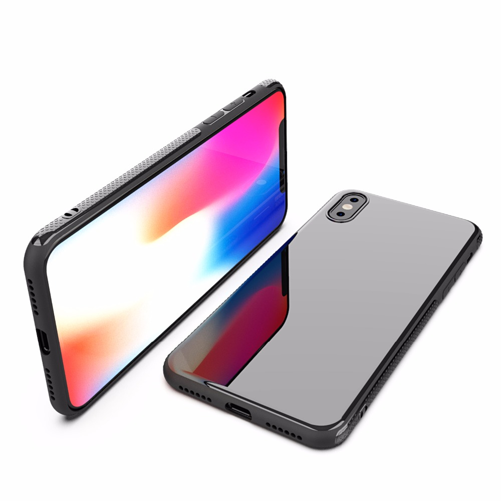 For iPhone X case Luxury Shockproof High Penetration Glossy Ultra Thin Soft TPU Phone Case for iPhone 6 6s 7 8 Plus Slicone Back