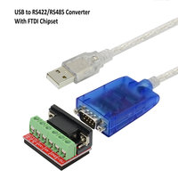 16.4ft/5M USB 2.0 to RS 485 RS 422 DB9 COM Serial Port Device Converter Adapter Cable, Support Windows 10, 8, 7, XP and Mac