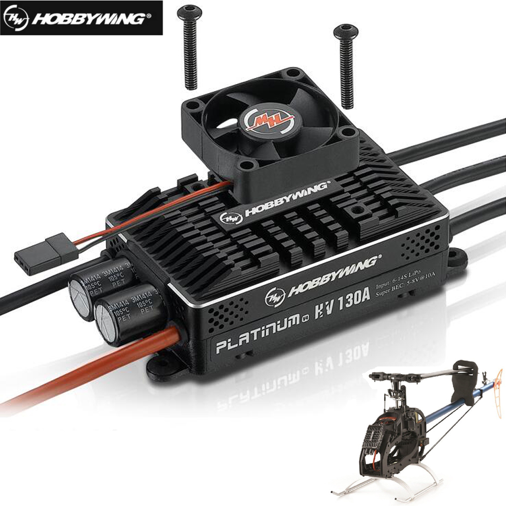 Original Hobbywing Platinum HV 130A V4 BEC /HV 130A OPTO 5-14S Lipo Empty mold Brushless ESC for RC Drone Helicopter Aircraft
