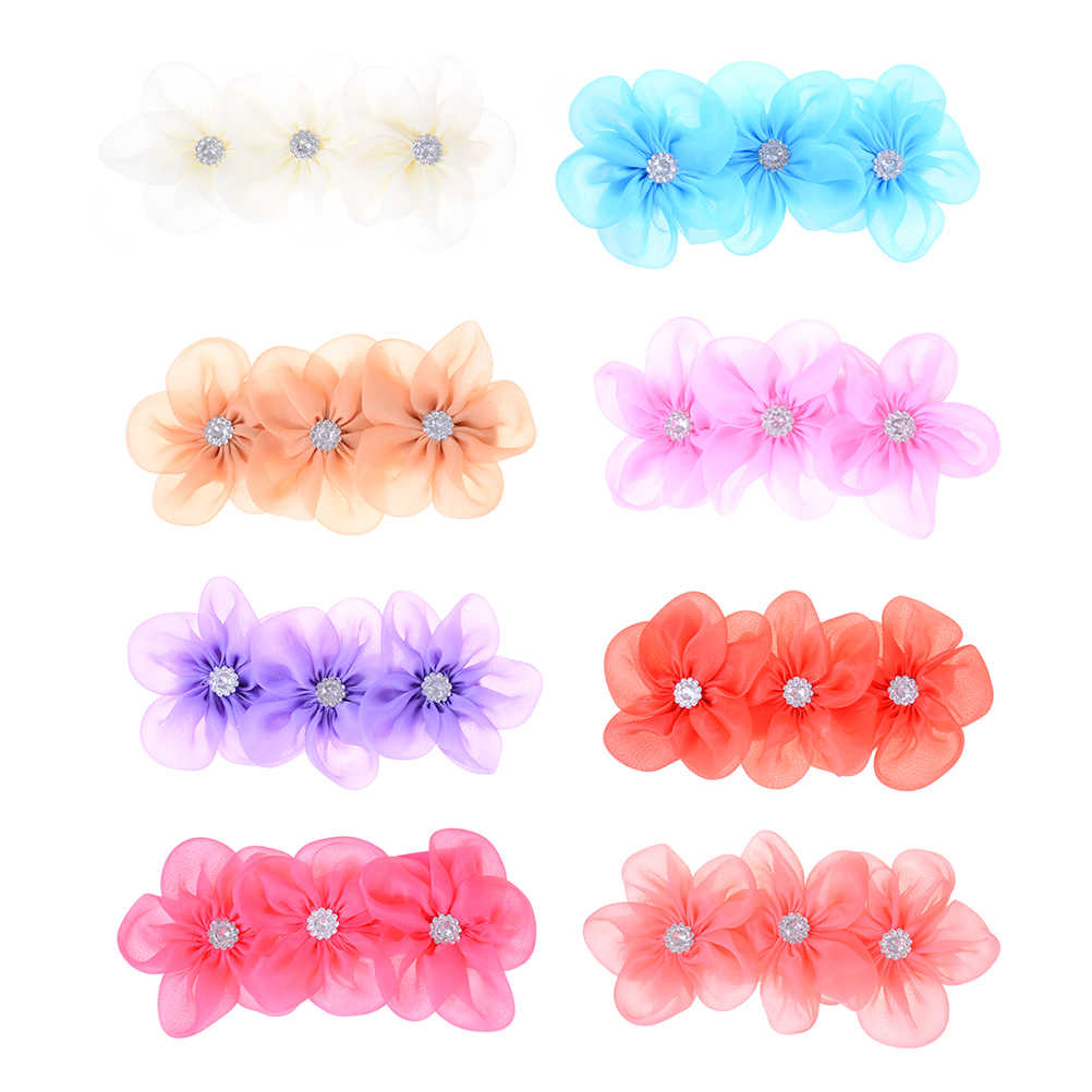 8 цветов, лента с 3 цветами, жемчужная полоска на голову с бриллиантами, повязка на голову, Детские аксессуары для волос для девочек, повязки для волос для новорожденных