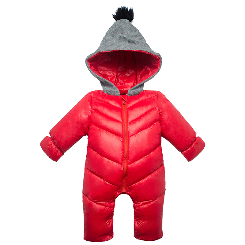 2017 new baby jumpsuit warm rompers hooded baby girl romper infant winter romper kids winter baby boy snowsuit overalls newborn led телевизор lg 28mt42vf pz
