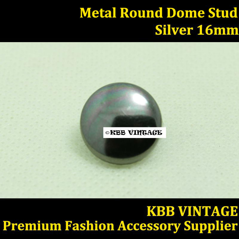 Punk DIY Metal Round Dome Stud 16mm in Gunmetal with 2 Prongs Claws ...