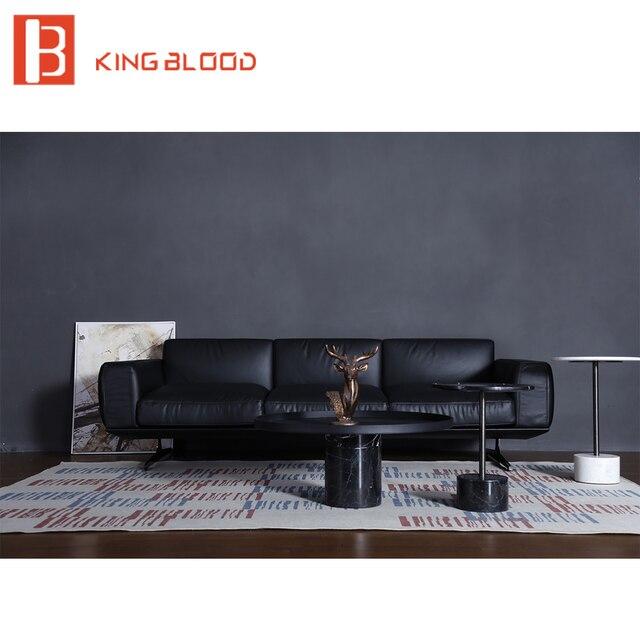 Moderne Top Grau Neuesten Ecke Echt Leder Sofa Wohnzimmer Design Sofa