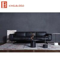 Moderno cinza top mais recente projeto sala de estar sofá de canto sofá de couro real