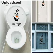 "Uploadcool _ Olaf "" let it go "" Funny Novelty Toilet Seat/Sticker/Decal Fashion 3D Wall On The Wall Home Decoration"