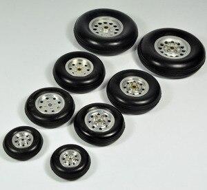 """Image 2 - 1 pz gomma ruota con mozzo in alluminio per rc modello di aereo e diy pneumatici robot 1.75 """" 4.5"""""""