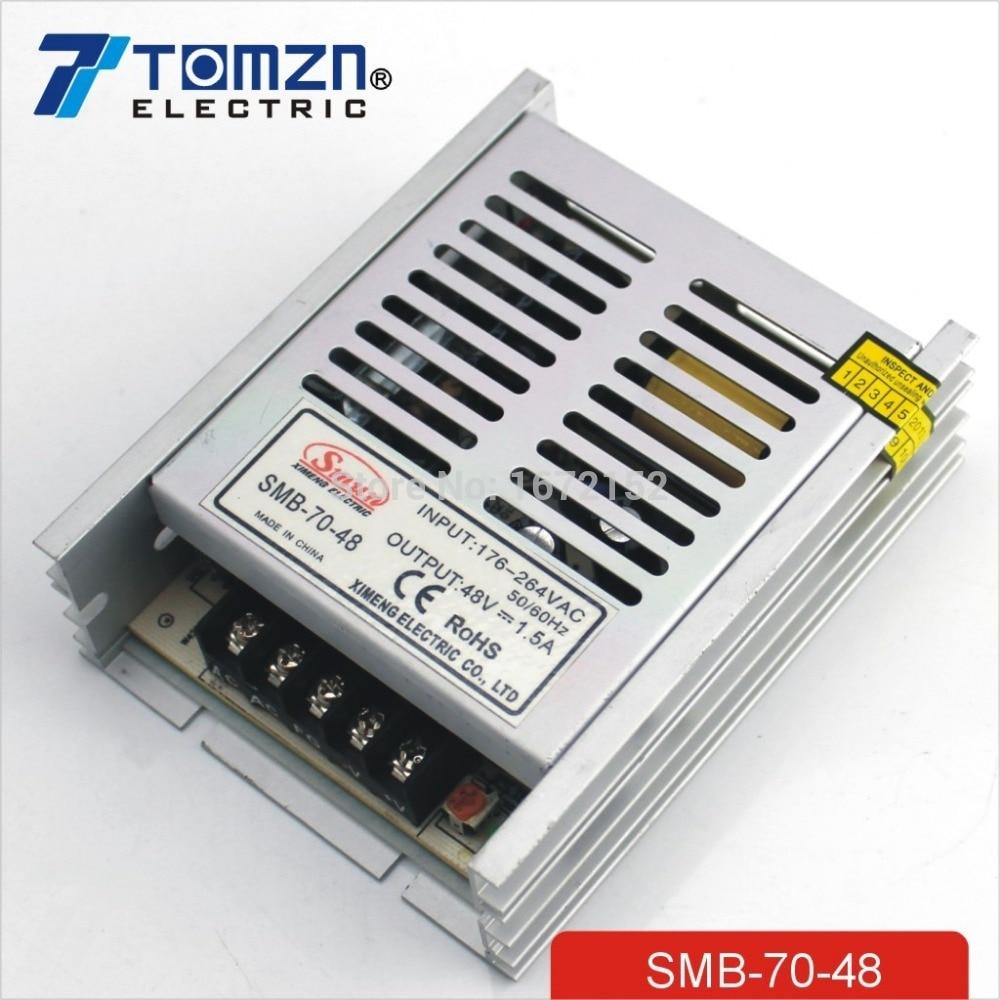 70W 48V 1.5A 100V-260V AC INPUT Ultra thin Single Output Switching power supply for LED Strip light 1200w 48v adjustable 220v input single output switching power supply for led strip light ac to dc