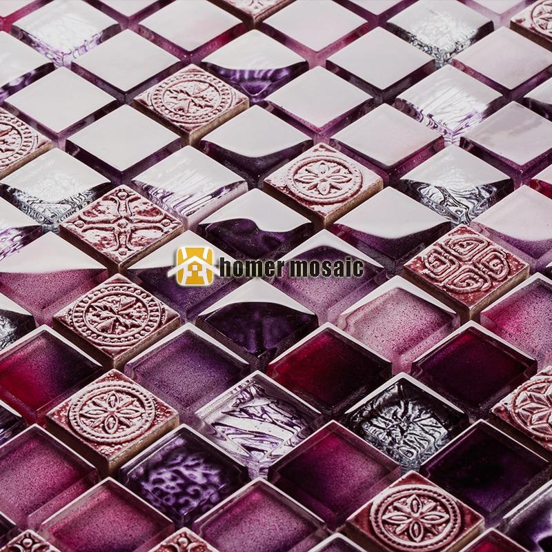 purple tile backsplash promotion-shop for promotional purple tile