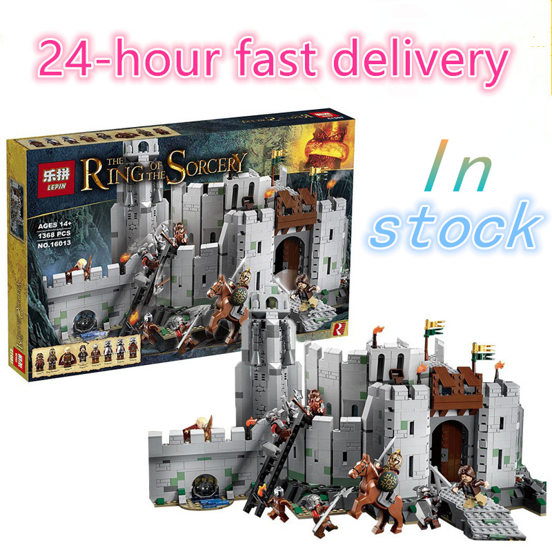 LEPIN 16013 The Lord of the Rings Series The Battle Of Helm' Deep Model  Building Block Bricks Figures Compatible 9474 lepin 16018 756pcs genuine the lord of rings series the ghost pirate ship set building block brick toys compatible legoed 79008