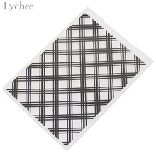 Lychee Grid Pattern Plastic Embossing Folder For Scrapbook Template Stamp Card Making Decoration DIY Handmade Album Card Tool