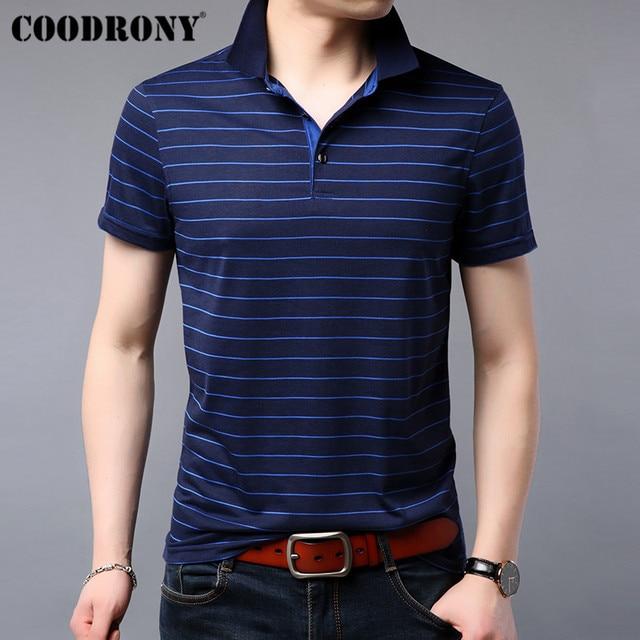 COODRONY T Shirt Men 2019 Summer Soft Cool Short Sleeve T Shirt Men Streetwear Casual Fashion Striped Top Tee Shirt Homme S95075