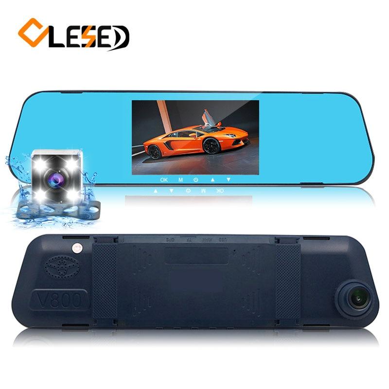 dash cam dash camera car dvr dual lens rear view mirror auto dashcam recorder registrator in car video full hd vehicle car cam цена 2017