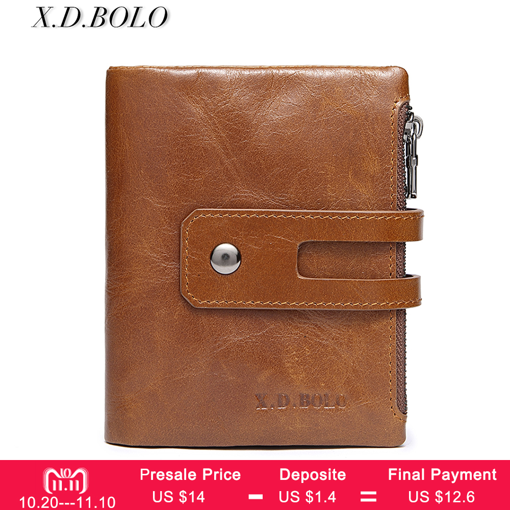 BOLO Wallet Women Vintage Fashion Top Quality Small Wallet Leather Purse Female Money Bag Small Zipper Coin Pocket Brand Hot