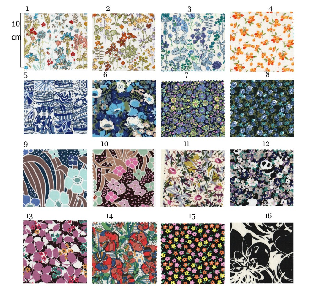new arrived cotton fabric blue flower print smooth fabric liberty printed textile clothing material bedding fabric 100%cotton
