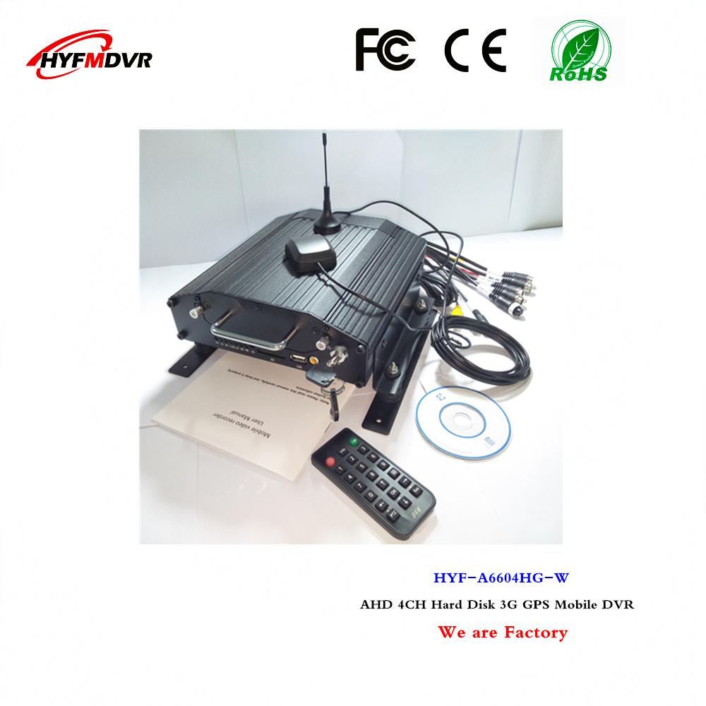 GPS remote location monitoring host 3G 4CH mdvr hard disk on-board video support Guyana / Suriname language