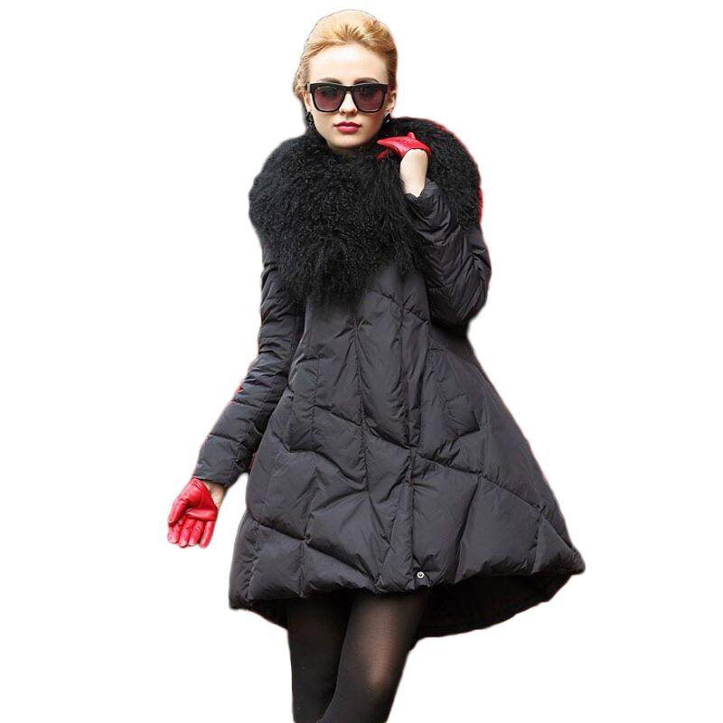 jasper 2 Plus Taille Nouveau Hiver Survêtement long Noir Mode 2018 Femmes Couleurs Arrivée Réel Col 4xl Veste Grand Lâche Moyen 4RLSc35Ajq