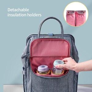 Image 4 - Sunveno sac à couches, sac à couches étanche de grande capacité, à couches pour maman, sac à dos de voyage pour maternité, sacoche à main dallaitement, nouveauté