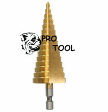 4-32mm Pagoda Shape HSS Hex Shank Pagoda Metal Steel Step Drill Bit Hole Cutter Cut Tool A Single Pack
