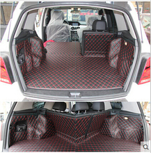 High quality! Special trunk mats for Mercedes-Benz GLK 220 2013 durable waterproof carpets for MB GLK220 2015-2008,Free shipping