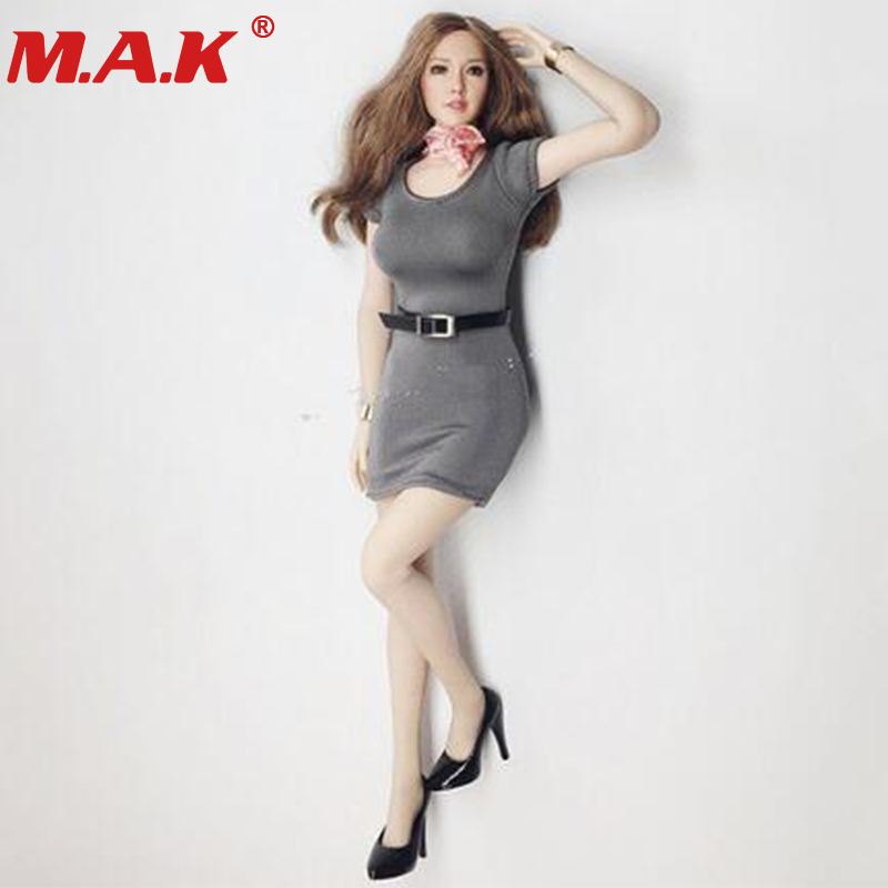 1:6 scale female girl woman sexy young lady tight dress model sexy skirt office clothes biz wear for 12