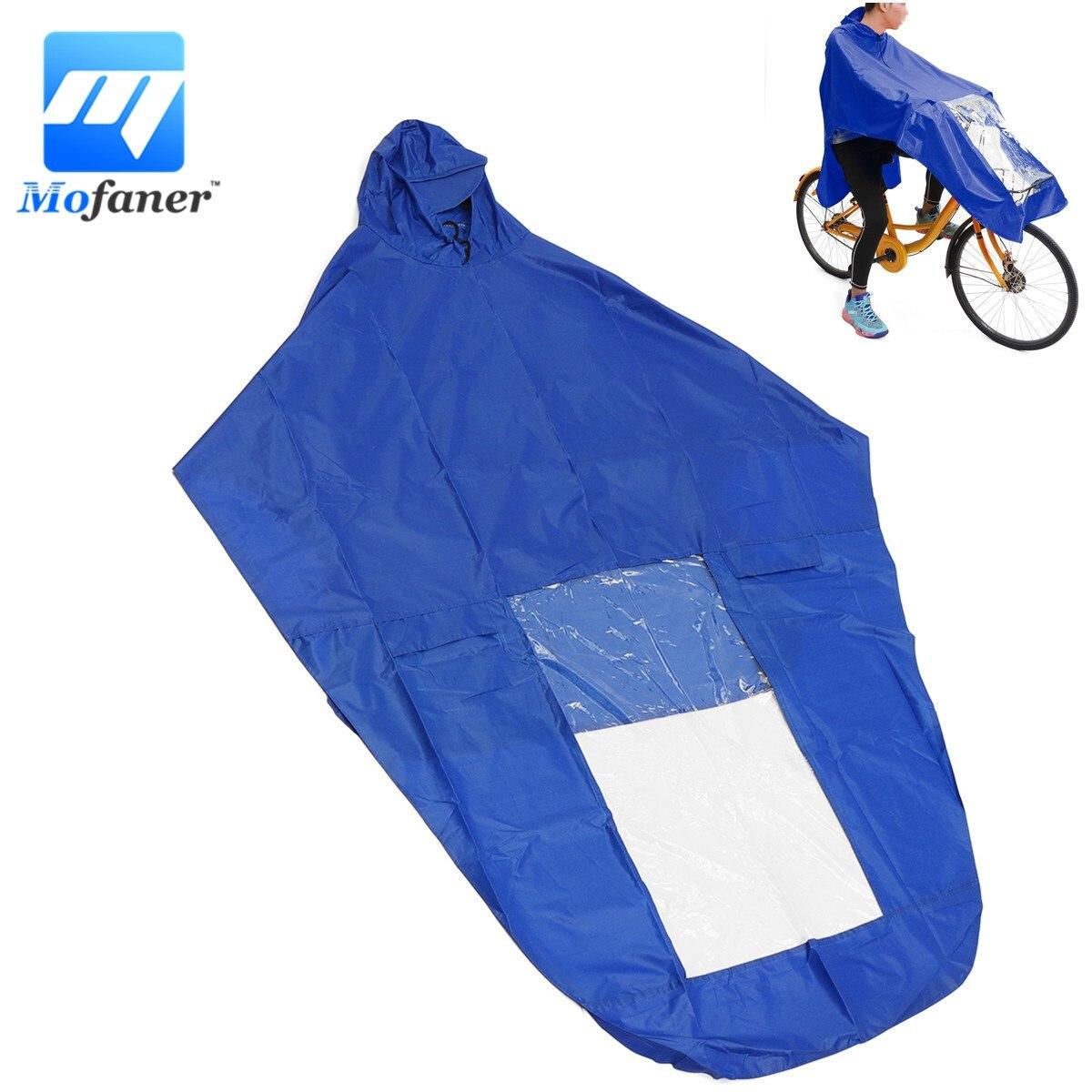 Mofaner Waterproof Motorcycle Scooter Raincoat Cover Windproof PVC Motorbike Bike Rider Rain Coat Covers Bule Red