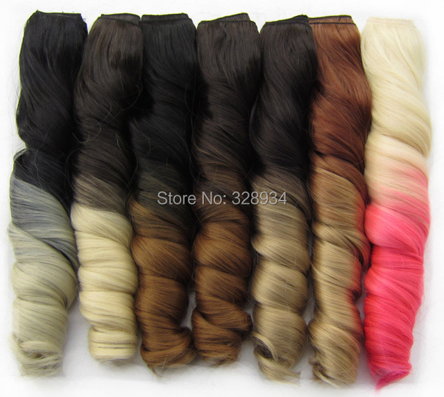 2015 Newest Colorful Synthetic Hair Extensions 20inch Ombre Hair
