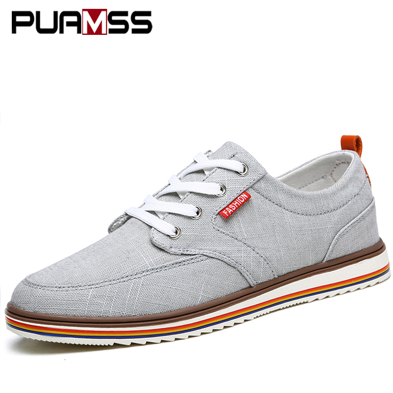Men's Shoes Men's Casual Shoes 2018 New Men Casual Shoes Canvas Breathable Laces British Fashion Sneakers Male Evening Holiday Shoes Man
