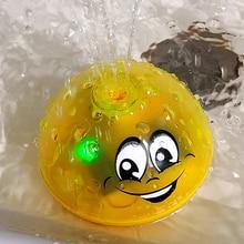 Прекрасный СВЕТОДИОДНЫЙ Мигающий игрушечный музыкальный шар, брызгающий водой спринклер, детский душ для ванны, Детский Светильник, игрушки для воды, badspeelgoed