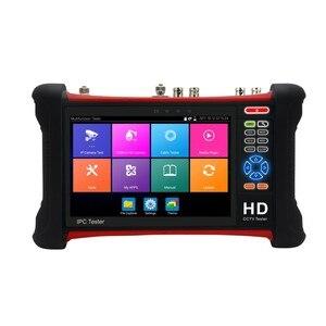 Image 2 - Бесплатная доставка DHL, тестер видеонаблюдения H.265 4K Wanglu X7 8 Мп, TVI CVI AHD SDI CVBS, тестер IP камеры, монитор с кабельным трассировщиком, тест кабеля UTP/RJ45