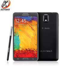 T-Mobile версия Samsung Galaxy Note 3 N900T мобильный телефон 4 ядра 3 ГБ Оперативная память 32 ГБ Встроенная память 5.7″ 3200 мАч 13.0mp Android-смартфон