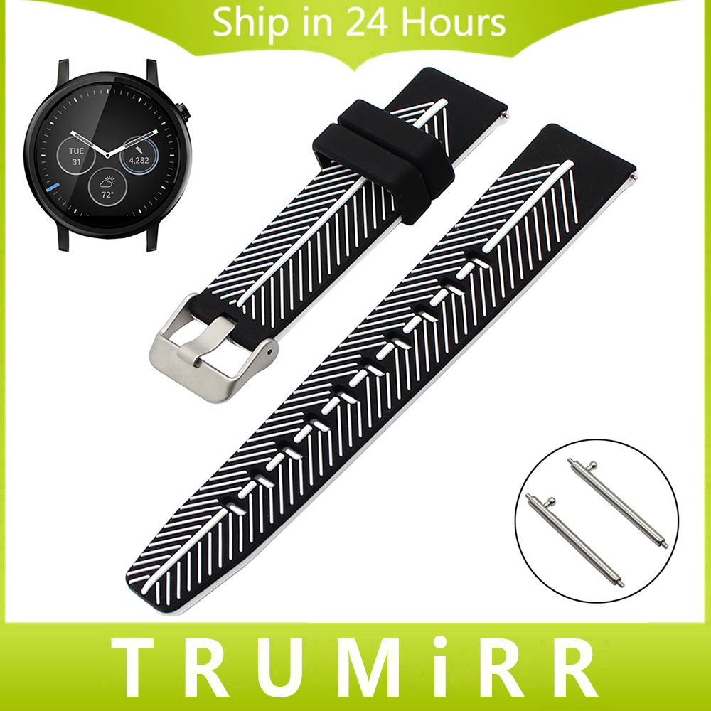 22mm Quick Release Silicone Watchband for Moto 360 2 46mm Ticwatch 1 Garmin Fenix Chronos Rubber Watch Band Wrist Strap Bracelet garmin fenix chronos steel