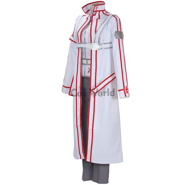 Sword art online SAO rycerze krwi KoB Kirigaya Kazuto Kirito płaszcz chroniący od wiatru topy spodnie jednolite Anime strój Cosplay kostiumy