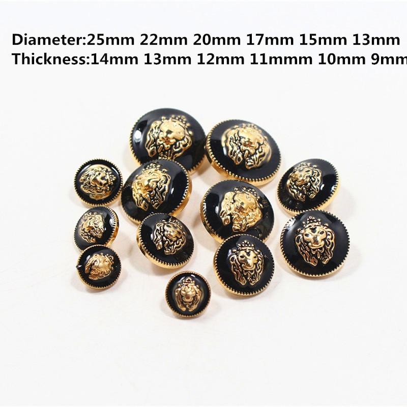 Buttons Arts,crafts & Sewing 10pcs High Quality Metallic Black Gold Mushroom Shirt Button Eco-friendly Metal Buttons Women Men Coat Botones Diy E2-1 Quality First