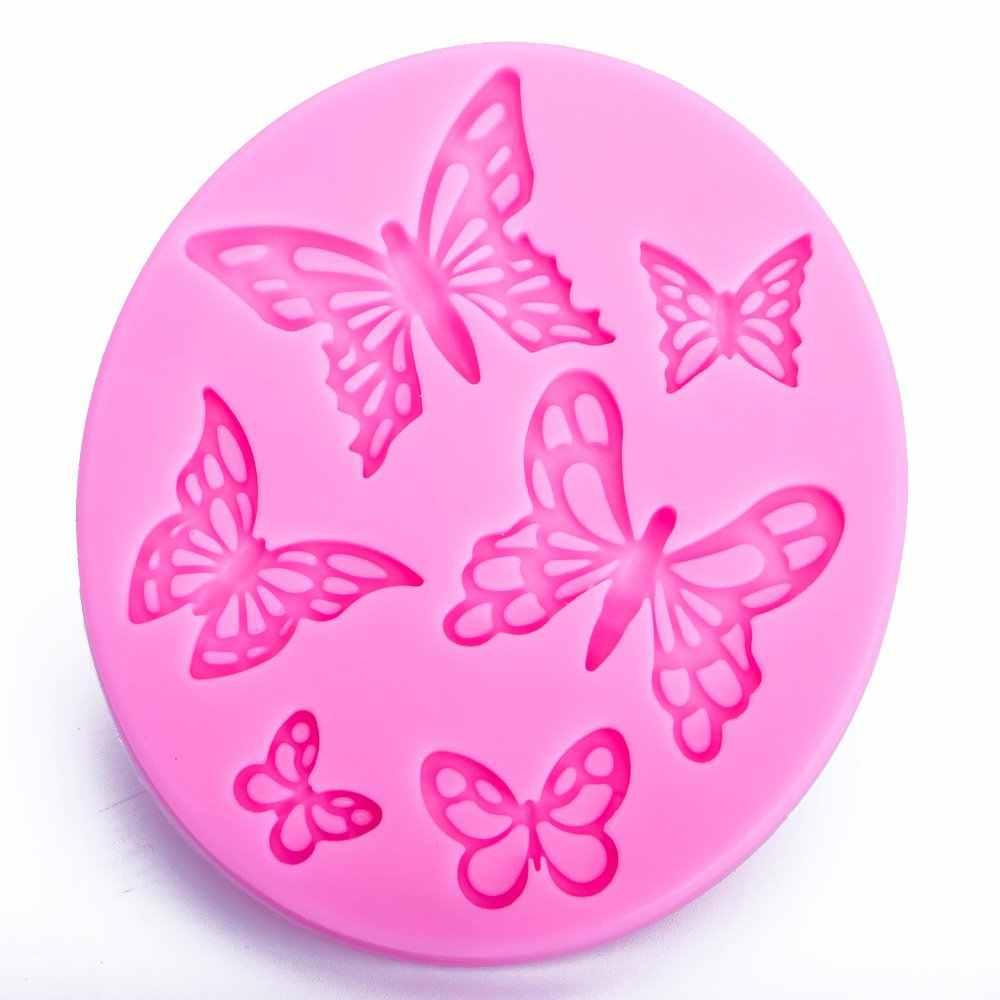 Форма бабочки 3D ремесло рельеф шоколадные кондитерские изделия помадка силиконовые формы торт кухня домашний Декор Инструменты FT-1073