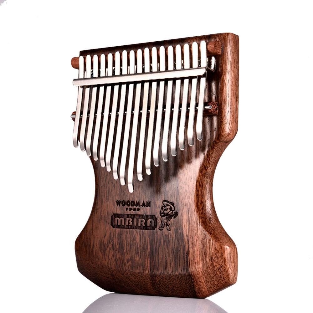 17 Key Kalimba Calimba Mbira Solid Black Sandalwood Body Kalimba Mbira Thumb Piano w/Soft Bag Popular Keyboard Piano Instrument