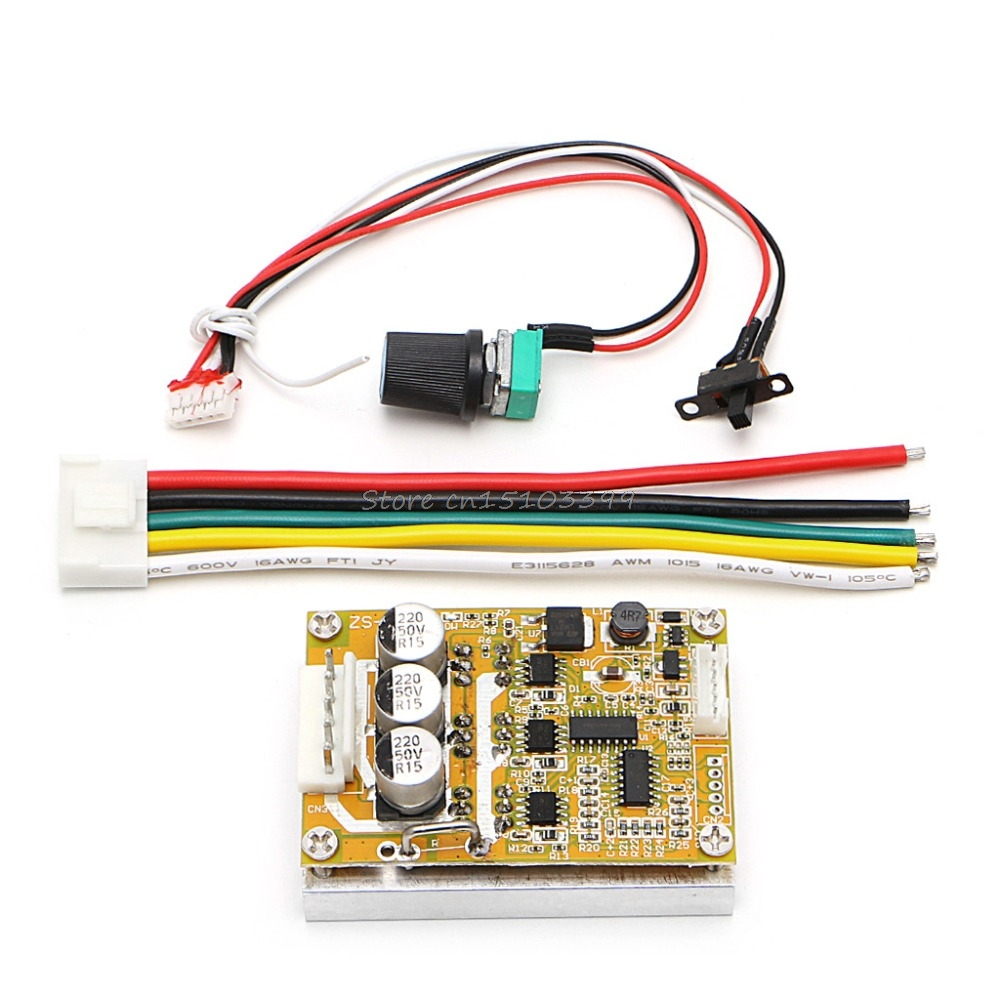 Ootdty Dc 24 36v 250w Brushless Regulator Speed Controller Scooter E Wiring Diagram 350w Bldc 5 Motor Driver Wide Voltage High Power Three