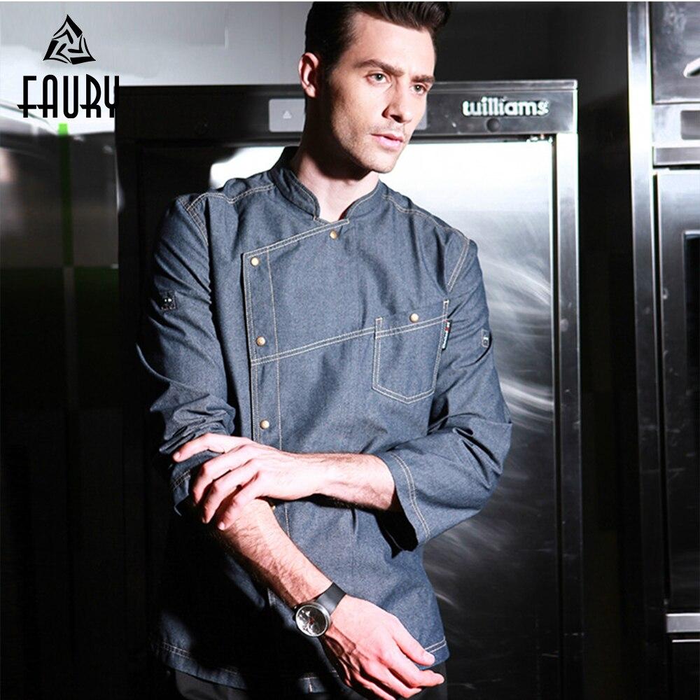 Veste de Chef uniformes, vêtements Services alimentaires à manches courtes hommes vêtements de cuisine vêtements de travail salopette de Restaurant
