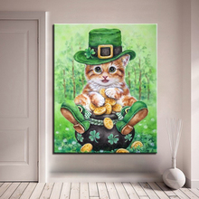 Super Cute Animals Cat DIY Painting By Numbers Kits Coloring Paint By Numbers Hand Painted Unique Gift For Kids Room Home Decor diy digital oil painting by numbers kits coloring landscape painting by numbers unique gift for living room home decor 40 50cm