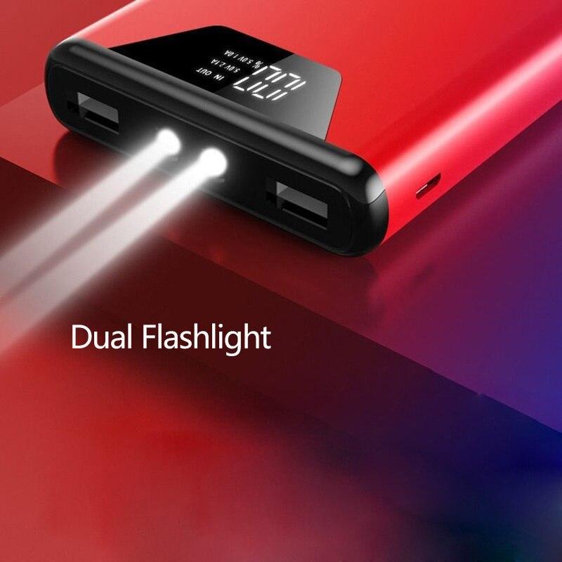 30000 мАч большая емкость Внешняя батарея Внешний аккумулятор для iPhone Xiaomi повербанк 30000 мАч Зарядка телефона батарея Powerbank